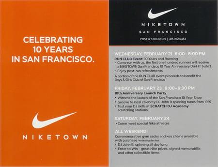 Niketown San Francisco 10 Year Anniversary
