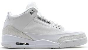 Air Jordan 3 White/Metallic Silver Pure