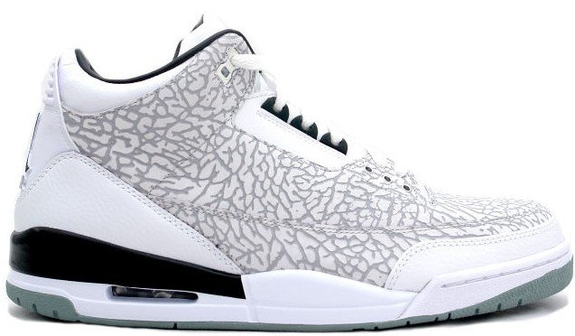 Air Jordan Retro 3 (III) White Chrome Black Flip
