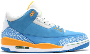 Air Jordan 3 Brisk Blue/Pro Gold-Radient Green Do the Right Thing DTRT