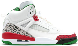 Air Jordan Spizike White/Varsity Red-Classic Green