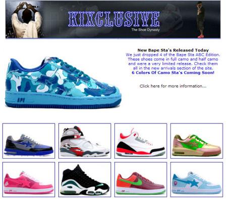 Jordan 3 Cool Grey and Bape Camo Stas at Kixclusive
