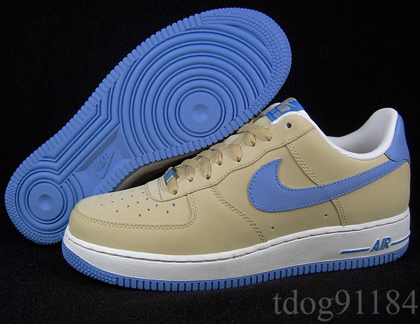 Nike Air Force 1 Linen/University Blue/White