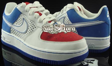 Nike Air Force 1 XXV White/Varsity Red Blue Sample
