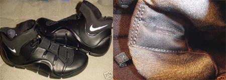 Nike LeBron IV Black with White Nike Swoosh PE