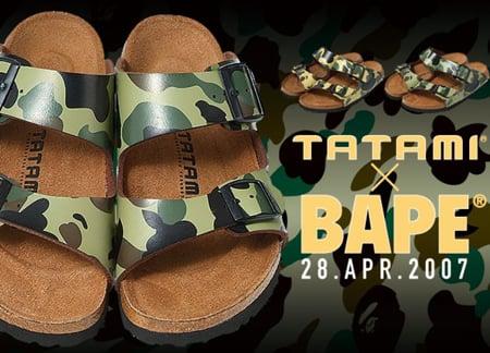 Bape x Tatami Sandal  bd12f01f1a