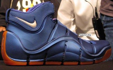 Nike LeBron IV Navy/Orange PE