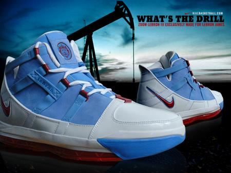 Nike LeBron III Houston Oilers PE