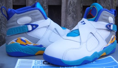 Air Jordan Release Dates Retro VIII White-Aqua