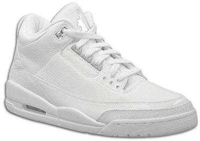 16aa70619ec7da Air Jordan Release Dates III Retro Pure White Metallic Silver
