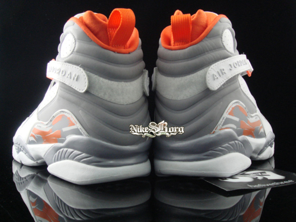 Air Jordan Retro 8 White/Stealth-Orange Blaze Sliver