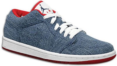 Air Jordan Release Dates Retro 1 I Womens Denim Red Low