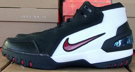 Nike LeBron I AZG White/Black/Red PE