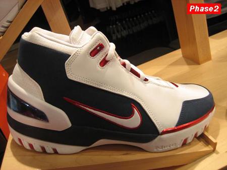 Nike LeBron I AZG Navy Blue/White/Red PE