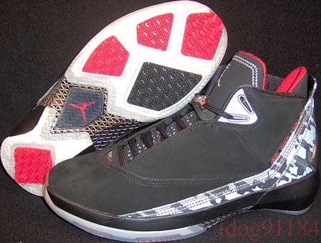 Air Jordan XX2 Black/Varsity Red-Metallic Silver