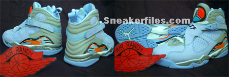 Air Jordan Retro VIII Womens Ice Blue/Orange Blaze-Silver