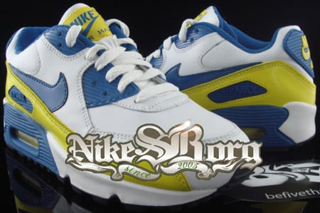Nike Air Max 90 Womens Sample Blue/Yellow