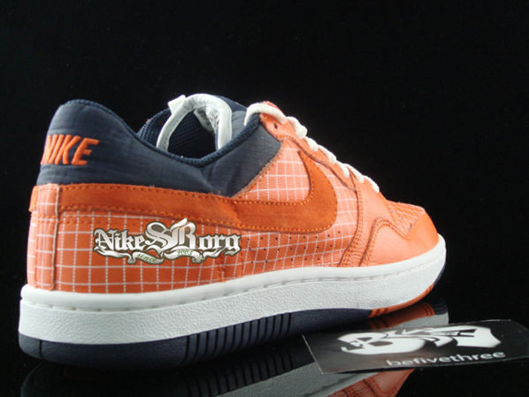 Nike Court Force Low Orange Square Print