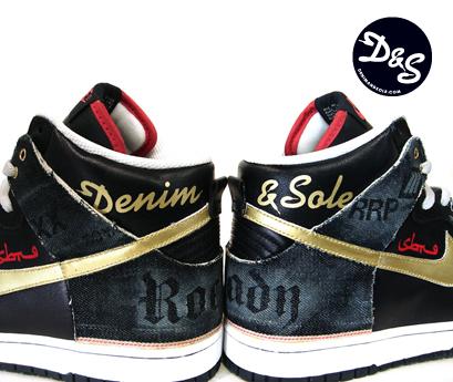 Nike Dunk High x Denim and Sole x SBTG