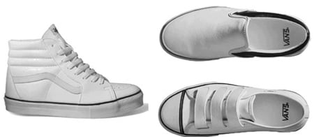 Vans White Cracked Leather Series