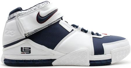 Nike LeBron II White/Blue PE
