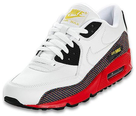 Nike Air Max 90 Womens White/Red/Black/Yellow