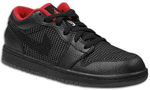 air jordan 1 (i) low-black / metallic silver-varsity red