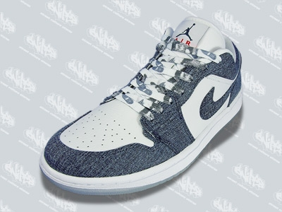 Air Jordan I Retro Womens Low White/Denim