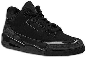 Air Jordan 3 Black/Dark Charcoal-Black Black Cat