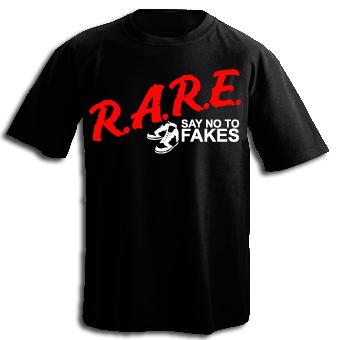 New Rare: Say no to Fake Kicks Black T Shirt