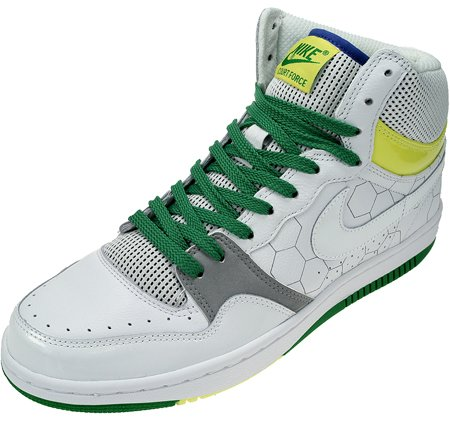 Nike Court Force High Wht/Wht-V Yellow