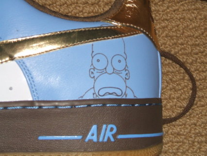 Nike Air Force 1 iD Homer Simpson