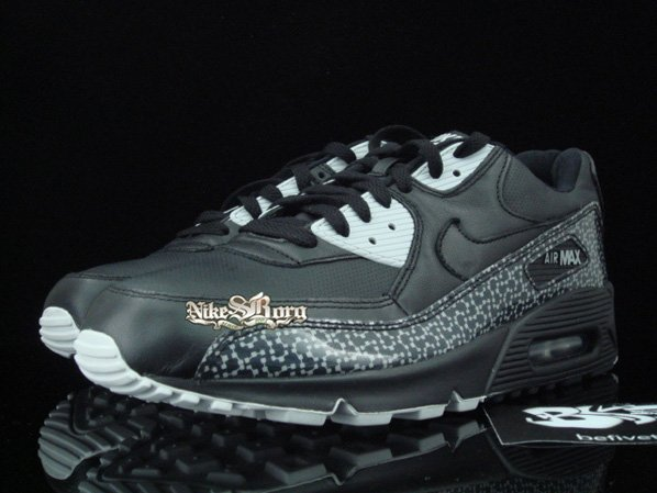 lovely Nike Air Max 90 Black Gray Violet Print