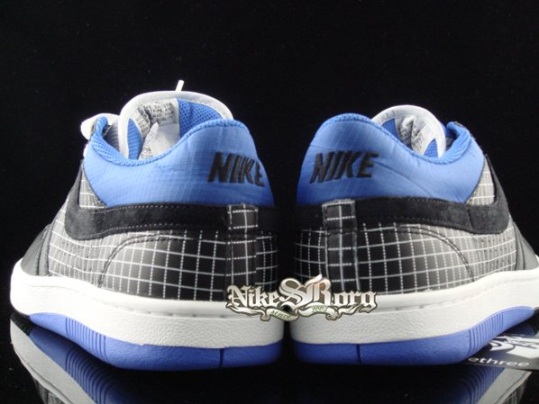 Nike Court Force Low Black/Royal Square Print pack