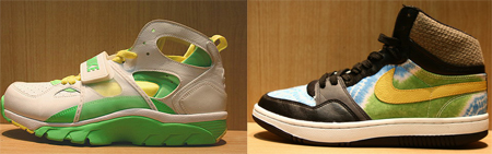 Nike Huarache Trainer and Court Force High Sample