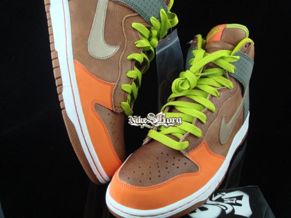 Nike Dunk High Brown/Orange-Champagne Beige