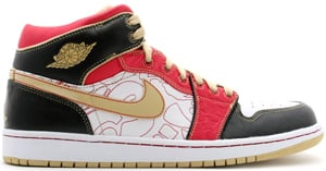 Air Jordan 1 China Xq White/Gold Dust-Sport Red-Black