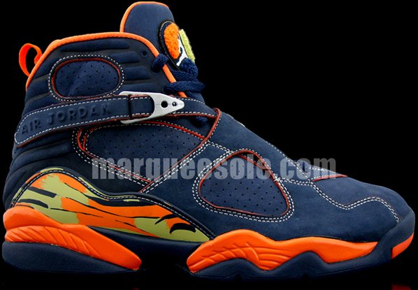 Air Jordan Retro VIII Midnight Navy/Pea Pod-Orange Blaze