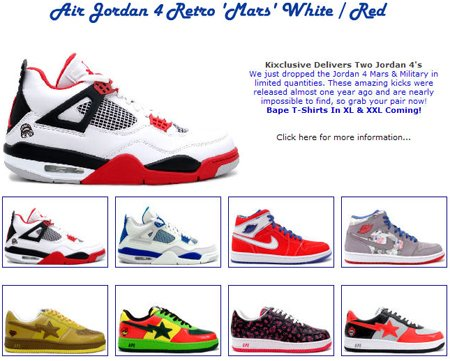 Air Jordan Retros 1-14 and New Bapes At Kixclusive