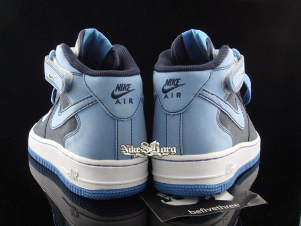 Nike Air Force 1 Mid Dk Grey/Lt Blue