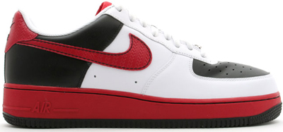 air force 1 black red and white