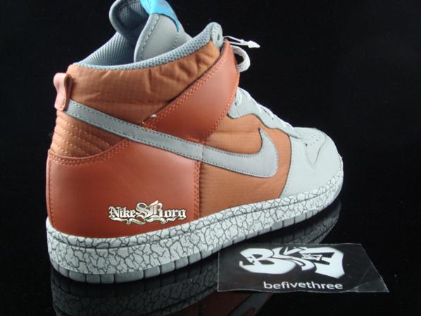 Nike Dunk High Orange/Grey Crackle