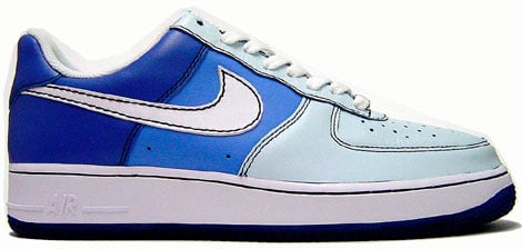 Nike Air Force 1 Low Glacier Blue/White-Varsity Blue-University
