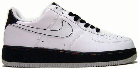 Nike Air Force 1 Low White/White-Black-Metallic Silver