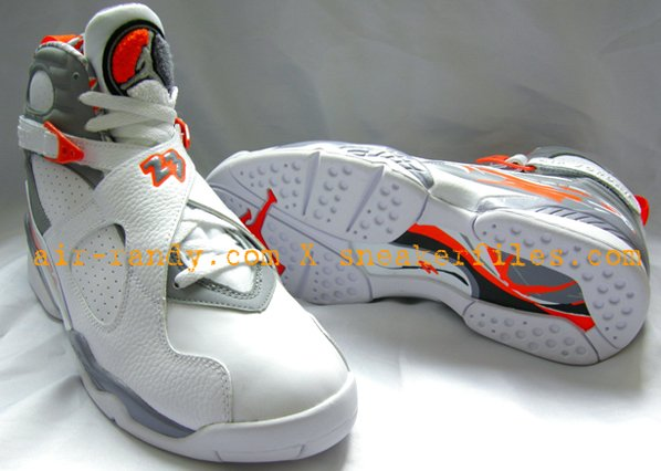 best value 64b30 c93dd Air Jordan 8 Retro White Orange Blaze Stealth Final Product