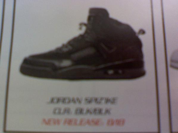Air Jordan Spizike Black Cat Catalog Picture
