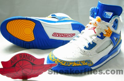 Air Jordan Spizike Blue Yellow