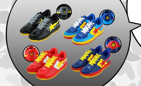 A Bathing Ape Bapesta x DC Comics