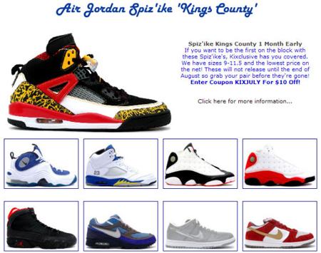 reputable site c2288 312ac Jordan Spizike Kings County Pre-Release at Kixclusive