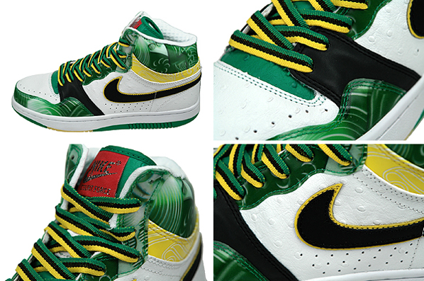 Nike Court Force High White/Lucid Green